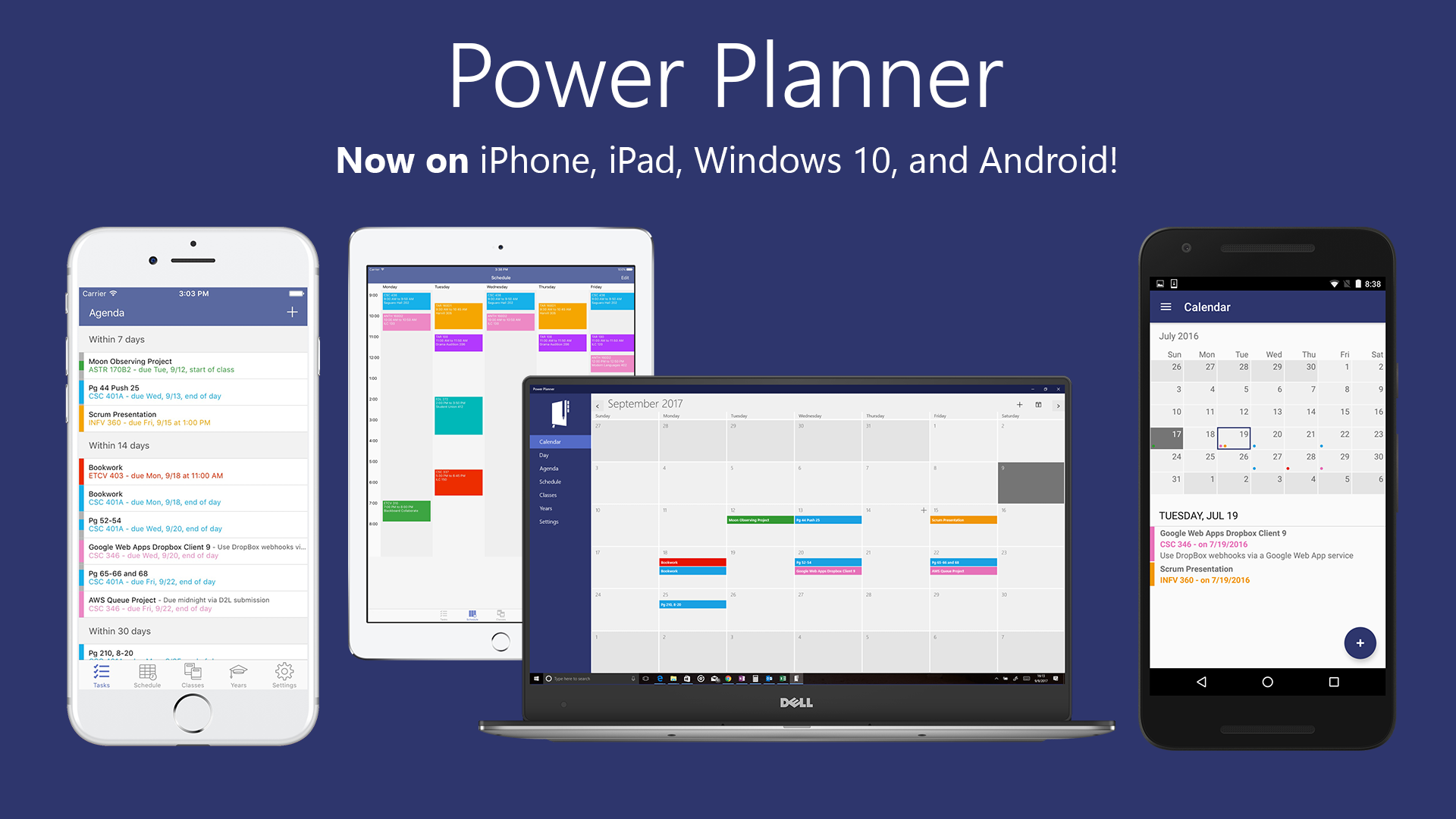 Image of devices Power Planner available on
